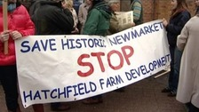 Plans for the development have attracted protests