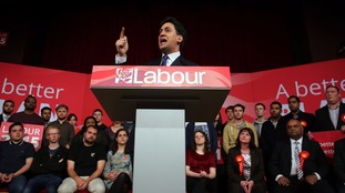 Ed Miliband campaigns as Labour leader during the 2015 General Election.