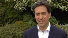 The Conservative pledge is nothing like Labour's, Ed Miliband has said.