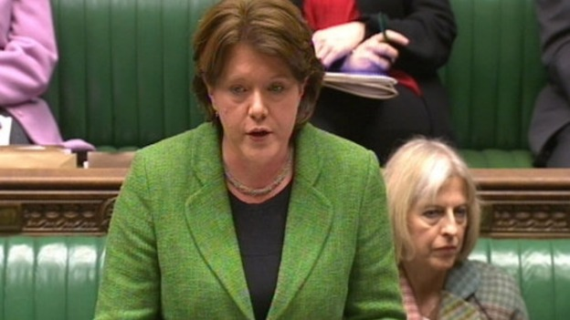 Culture Secretary Maria Miller during the MPS debate in the House of Commons on the publication of the Leveson Inquiry into press standards.