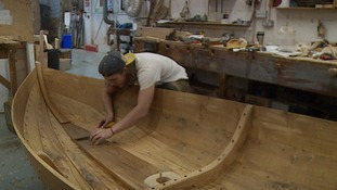 The replica is to be the centrepiece in the 'Broadland Boat Builder's Garden'.