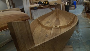The replica is being put together by the International Boat Building Training College in Lowestoft.