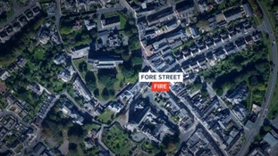 mapThe fire broke out at a property on Fore Street.