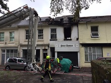 The fire spread through three flats and into the roof