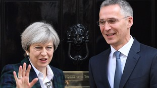 Theresa May hosts Nato secretary general as UK urged to commit more troops in Afghanistan