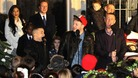 X Factor finalists Jahmene Douglas, James Arthur and Christopher Maloney sing Silent Night