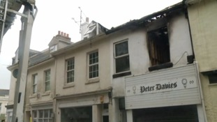Man in a life-threatening condition after fire