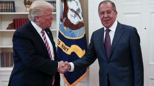 President Donald Trump meets Russian Foreign Minister Sergey Lavrov.