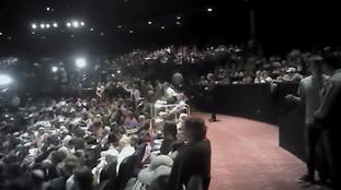 Moment Michael Sandford tried to grab gun at Trump rally.