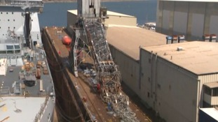 Dockyard emergency as 60-year-old crane collapses