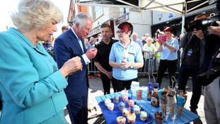 Royals enjoy an ice cream in Dromore