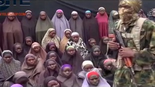 The Chibok Girls in footage released by Boko Haram.