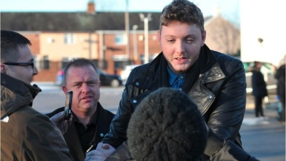 James Arthur greets fans 