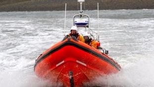 RNLI rescue boat.