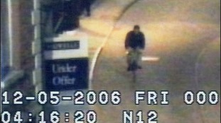 A cyclist close to the scene where Luke Durbin was last seen in May 2006