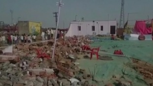 At least 24 killed as wall collapses onto wedding guests
