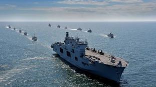 HMS Ocean on a NATO exercise.