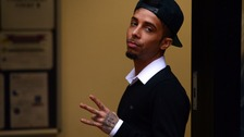 Former N-Dubz rapper Dappy has been arrested after allegedly having a knife and threatening a woman