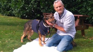 Finn and his handler PC Dave Wardell.