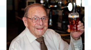 Cheers! The great-grandfather looking forward to free beer for life