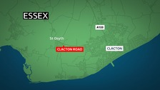 The crash happened at Clacton Road.