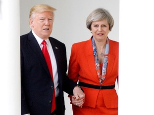 Jeremy Corbyn said there would be 'no more hand-holding with Donald Trump'.