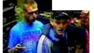 CCTV image of the two men police want to speak to in relation to.