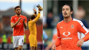 Blackpool's Will Aimson (left) and Luton's Danny Hylton (right) will go head-to-head on Sunday.