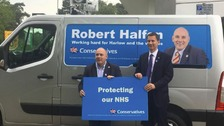 At least Robert Halfon knew Jeremy Hunt was visiting.