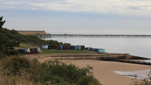 The pier at Walton-on-the-Naze in Essex on 10 May 2017.