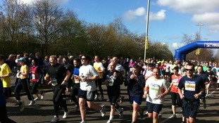 Reading half marathon runners