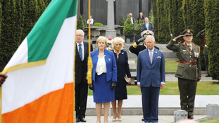 Royals unveil Victoria Cross stones at Glasnevin Cemetery