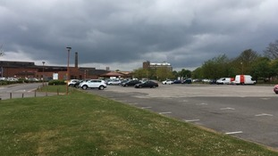 Near deserted car park in Lincoln