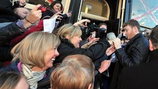 James Arthur signs autographs for fans in Middlesbrough