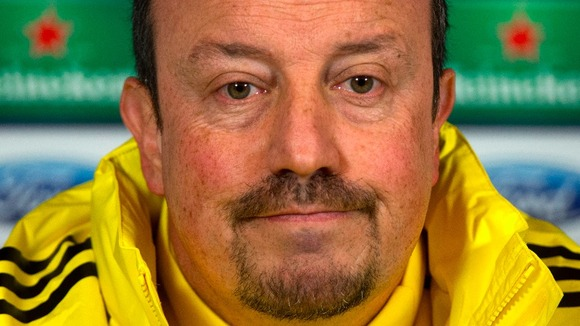 Chelsea interim boss Rafa Benitez faces the press on Tuesday