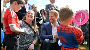Lee Rigby's son shares a laugh with Prince Harry