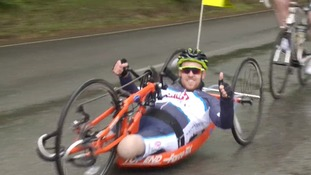 Double amputee crash victim Shaun Whiter begins 150-mile bike ride