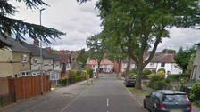 The 16-year-old was walking along Fir Road in Kettering at about 3.45pm.
