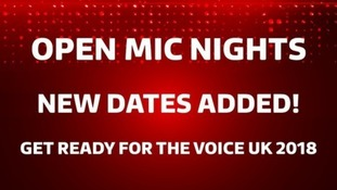 The Voice UK are hosting open mic nights nationwide