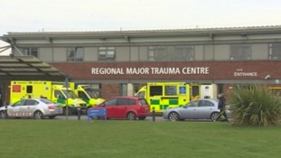 The 28-year-old man who was riding the motorbike, is being treated at James Cook Hospital in Middlesbrough.
