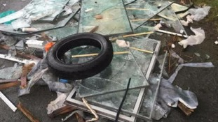 Rubbish blocked Pound Lane, Frankley, completely on Friday