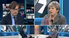Theresa May during an ITV News Facebook Live