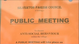 Poster of Silverton public meeting