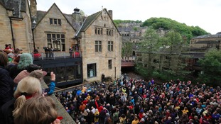 Thousands turned out to see the Labour leader in Hebden Bridge