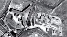 An aerial view of the Saydnaya prison complex.