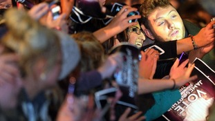 James Arthur poses with fans in Middlesbrough