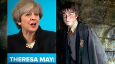 Theresa May has revealed she is a Harry Potter fan during a chat with schoolchildren.
