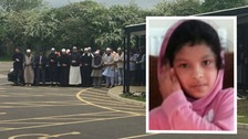 Hundreds of mourners have turned out for the funeral of Evha Jannath, who died after falling from a ride at Drayton Manor theme park.
