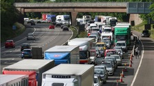 A section of the M6 was closed off to allow the controlled explosion to safely take place.