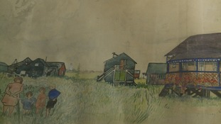 An artist's scroll depicting every building in the Suffolk village of Walberswick gets rare public outing